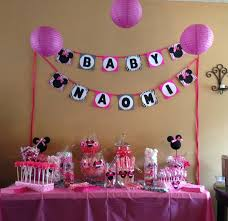 minnie mouse decorations for baby shower