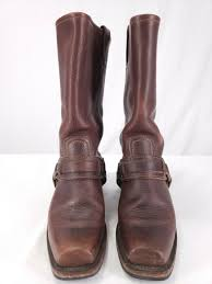 frye 12r belted harness chestnut full full full grain distress leather boots 6 5 m 77250 20165c