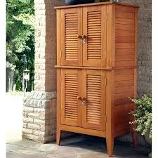 wooden patio storage cabinet wood outside cabinets bay four door multi purpose creative ideas office magnificent home styles 4