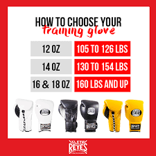 Boxing Glove Size Chart Choosing Your Training Glove Cleto Reyes Boxing Gloves