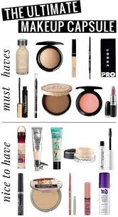 the ultimate makeup capsule all of the s you ll want in a simple makeup collection 10 must haves and 10 nice to haves