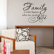 Quotes wall stickers family love quote vinyl wall sticker by mirrorin 56