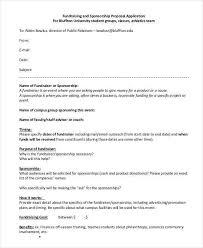 sponsorship forms for fundraising fundraising sponsorship proposal template sample sport event