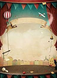 Amazon.com : 5x7ft <b>Vinyl</b> Cartoon <b>Circus</b> Stage Curtain ...