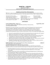 Sample Resume For Experienced Banking Professional Accounting Resume Templates Sample Accounting Resumes Best Best 57