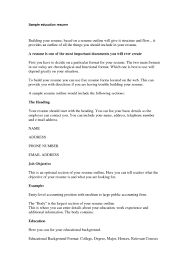 Cover Letter Education Part Of Resume Sample Education Part Of