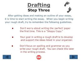 steps in writing an essay ppt  after getting ideas and making an outline of your essay it