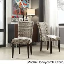 catherine print parsons dining side chair by inspire q bold grey link fabric side chairs set of 2