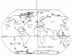 Small Picture World Map Coloring Page World Map And Continents Page Png On Cut