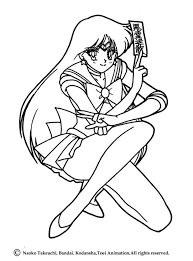 Small Picture Sailor mars posture coloring pages Hellokidscom