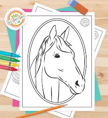 cutest horse coloring pages realistic