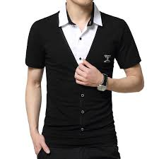 New Plus Size Summer <b>Mens T-Shirts Fashion</b> 2016 Slim Short ...