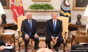 Image result for Najib meet Donald Trump