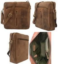 Brown LEABAGS Washington genuine buffalo leather shoulder bag ...