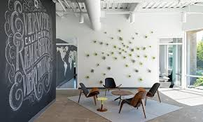 A Smart Offices Design For Enjoying Jobs  Modern Like Industrial Style  Evernate Office With Chalkboard Wall