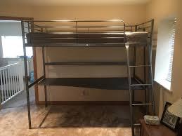ikea svarta loft bed frame with desktop excellent condition mattress not included