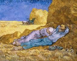 noon painting the siesta by vincent van gogh