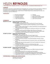 Restaurant Manager Resume Sample Free Best Restaurant Manager Resume Example LiveCareer Restaurant 12
