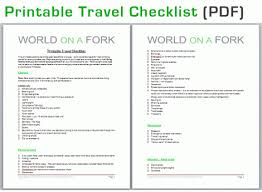 Travel Packing Checklist | World on a Fork
