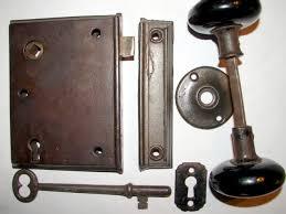 antique restoration hardware early rim lock 18