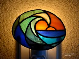 Stained Glass Night Light Kits Stained Glass Ocean Wave Nightlight Surfs Up Nightlight
