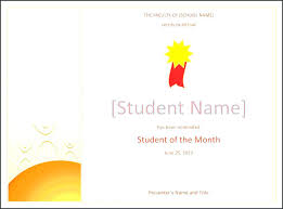 Star Of The Month Certificate Template Free Printable Student Of The Month Certificate Template Doc
