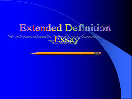 The Extended Definition Essay Presentation
