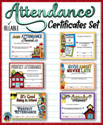 Fillable Certificates Attendance Certificates Set Fillable By Dp Sharpe Tpt