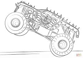 Small Picture Click To See Printable Version Of Grinder Monster Truck Coloring