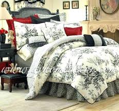 quilts french toile quilt bedding sets ceramic jug cookie jar