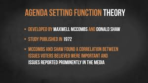 Agenda Setting The Agenda Setting Function Theory Media In Minutes Episode 3