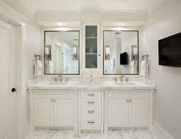 Bathroom double sink vanity Contemporary Bathroom Double Sink Vanities Wih Center Cabinet White Bathroom Vanity Cabinets And Marble Top With Double Sinks Remodel Bathroom Master Bathroom Wayfair Bathroom Double Sink Vanities Wih Center Cabinet White