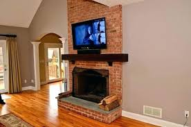 tv mount over fireplace fireplce fireplce ides safe mount tv above brick fireplace