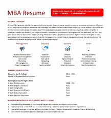 Resume Samples For Mba - Tier.brianhenry.co