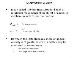 vmean linear velocity