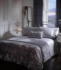 amelia crushed velour fl duvet cover set bedding range