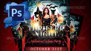 halloween template flyer thriller night halloween flyer template free youtube