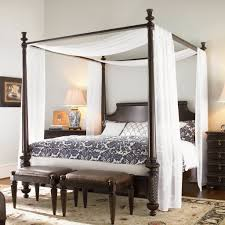 Bamboo King Canopy Bed Frame — Bed and Shower : King Canopy Bed ...