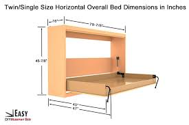 side mount twin murphy bed. Diy Horizontal Murphy Bed Wall Hardware Kit Mount 3  Sizes Available Side Twin N