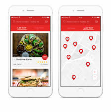 Mobile List View Design Yelps Current Mobile Web List Map Interface Gets The