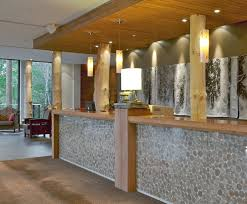 office front desk design design. i was looking at just the stone front of this desk not wood stain or ceiling office design