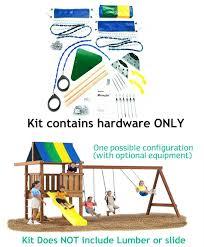 wrangler custom diy play set hardware kit view larger image by swing n slide