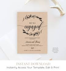Engagement Party Invitation Template Printable Engagement Party Invitation Template Rustic Wedding 15
