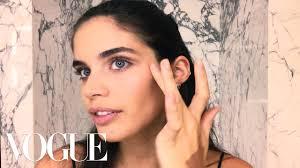 victoria s secret model sara saio s easy s makeup look beauty secrets vogue