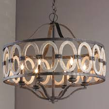 driftwood entwined ovals chandelier shades of light