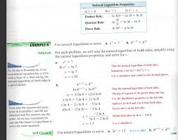 3 solve logarithmic equations