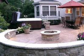 stamped concrete patio with fire pit cost.  Patio Stamped Concrete Patio With Fire Pit And  Designs  In Stamped Concrete Patio With Fire Pit Cost P
