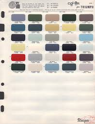 Aston Martin Color Chart Triumph Paint Chart Color Reference