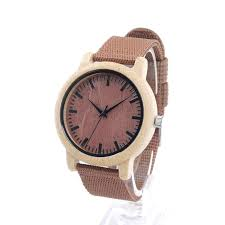 best mens maple woodgrain watches with fabric band hawaiian wooden watches