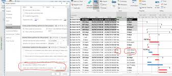 Msp Elapsed Total Float Ignored Even When Increasing